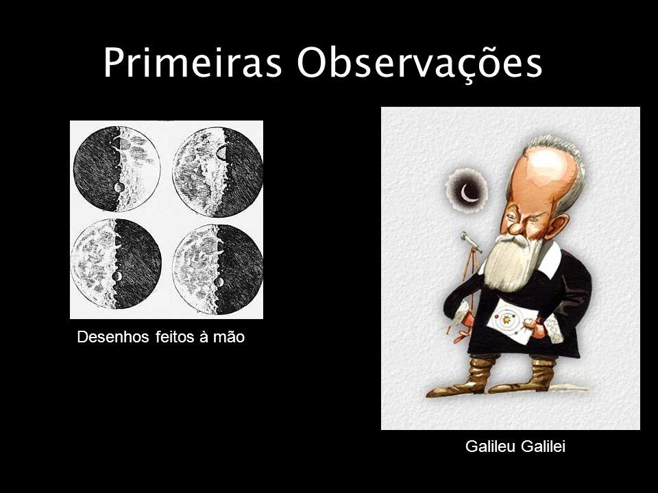 Primeiras Observações Galileu Galilei Desenhos feitos à mão