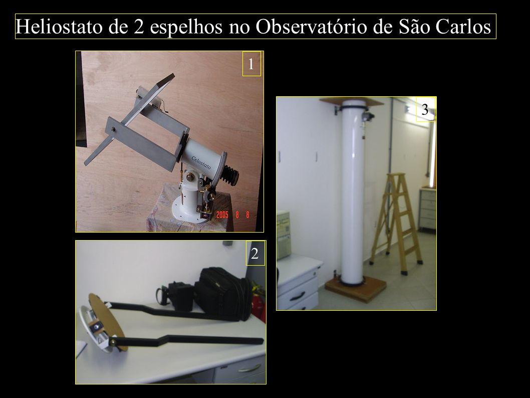 Heliostato de 2 espelhos no Observatório de São Carlos 1 2 3