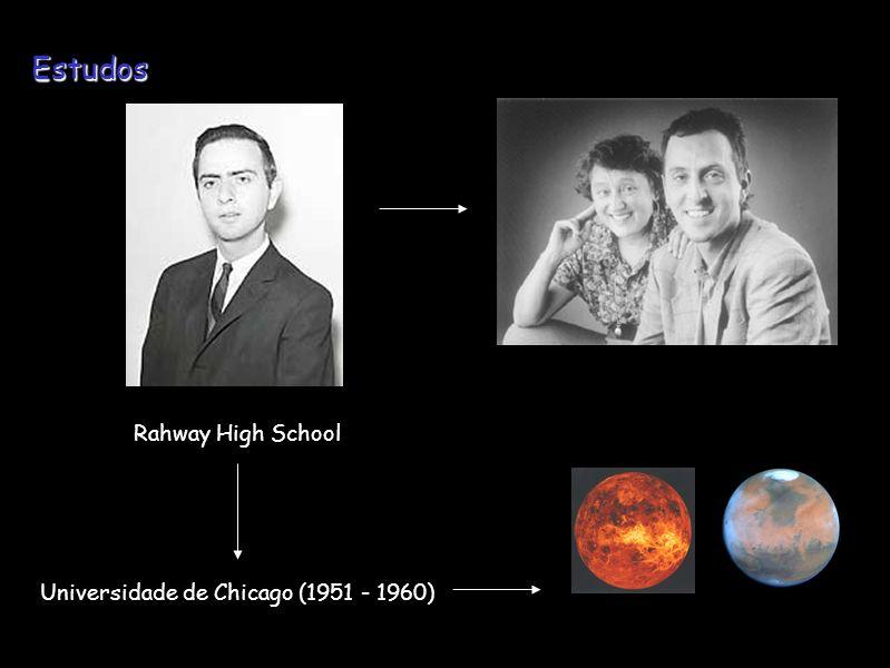 Rahway High School Universidade de Chicago (1951 - 1960) Estudos