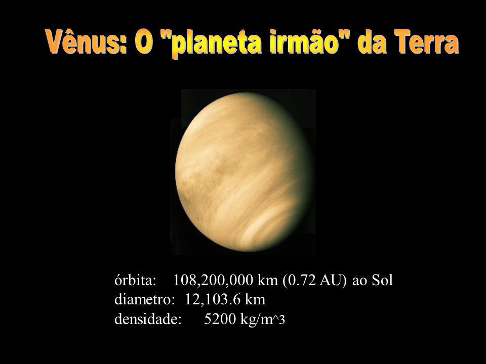 órbita: 108,200,000 km (0.72 AU) ao Sol diametro: 12,103.6 km densidade: 5200 kg/m ^3