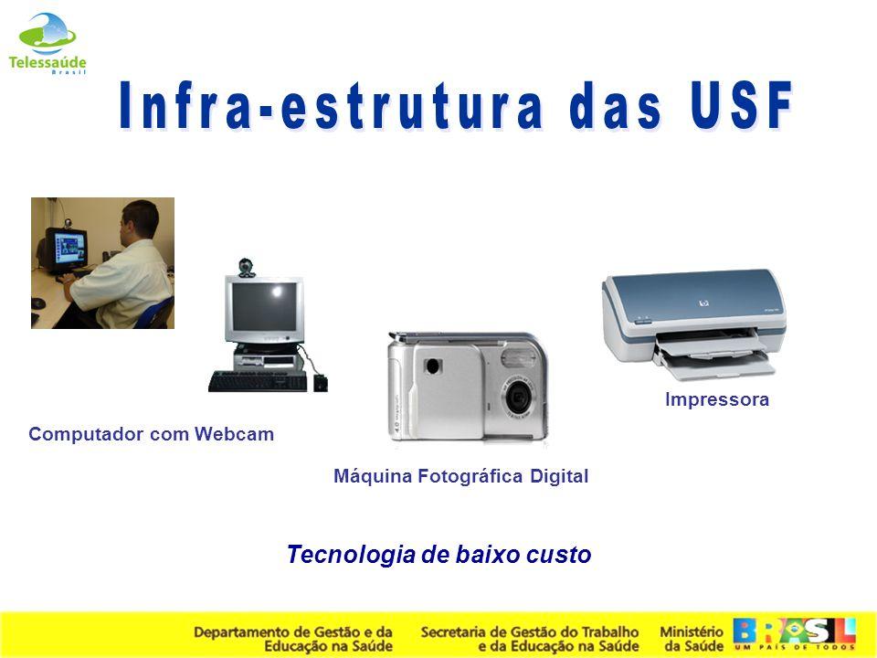 Secretaria de Gestão do Trabalho e da Educação na Saúde Computador com Webcam Impressora Máquina Fotográfica Digital Tecnologia de baixo custo