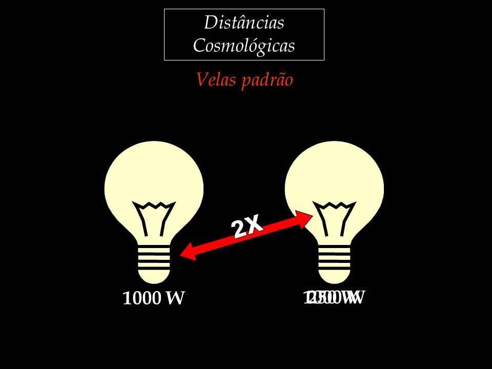Distâncias Cosmológicas Velas padrão 1000 W 250 W