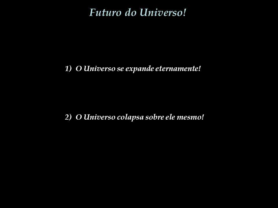Futuro do Universo! 1) O Universo se expande eternamente! 2) O Universo colapsa sobre ele mesmo!