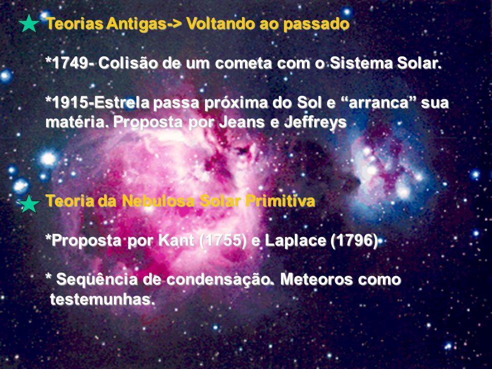 Teorias Antigas-> Voltando ao passado *1749- Colisão de um cometa com o Sistema Solar.