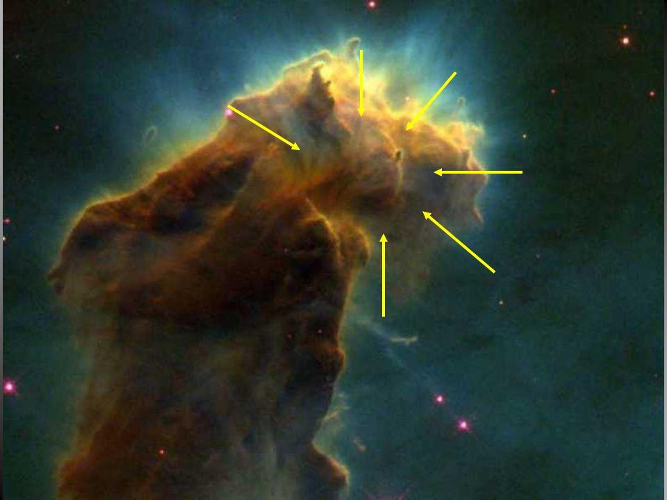 Contração gravitacional de uma nebulosa FF d mm F = G m m / d 2 Lei da atração gravitacional Gás Hidrogênio A forma geométrica de menor energia é a es