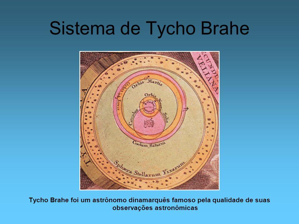 Sistema de Tycho Brahe Tycho Brahe foi um astrônomo dinamarquês famoso pela qualidade de suas observações astronômicas