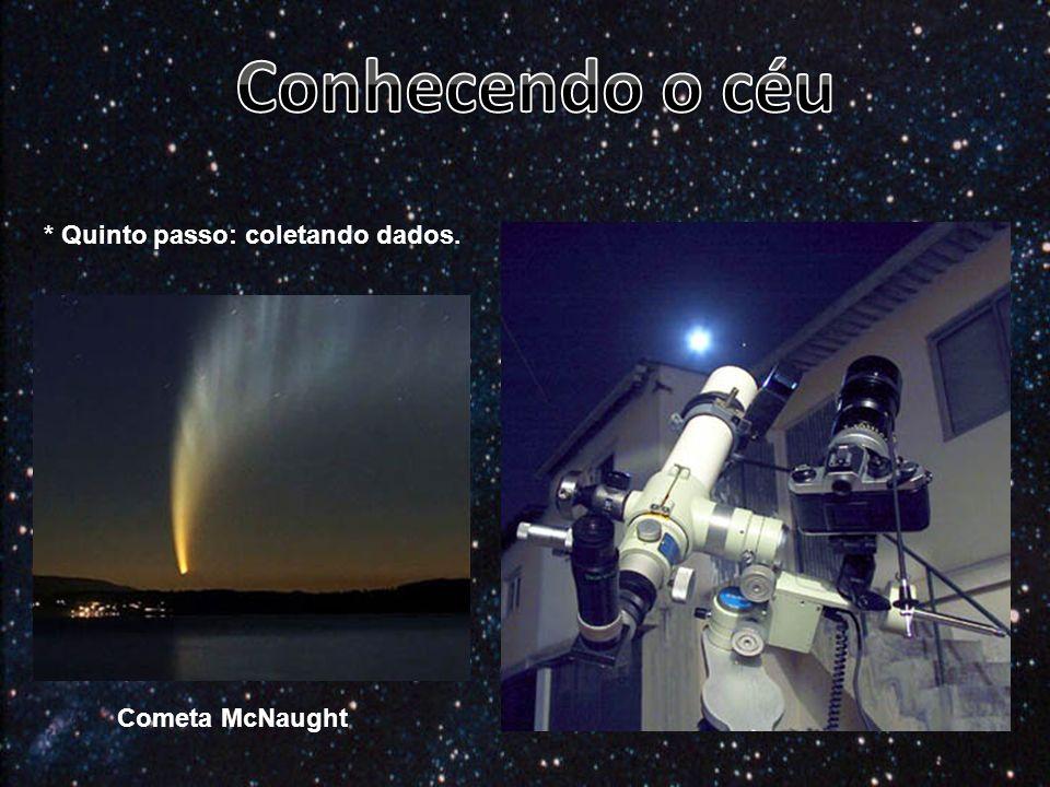 * Quinto passo: coletando dados. Cometa McNaught