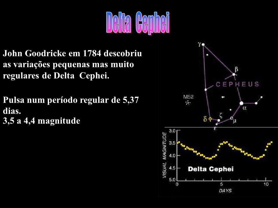 John Goodricke em 1784 descobriu as variações pequenas mas muito regulares de Delta Cephei. Pulsa num período regular de 5,37 dias. 3,5 a 4,4 magnitud
