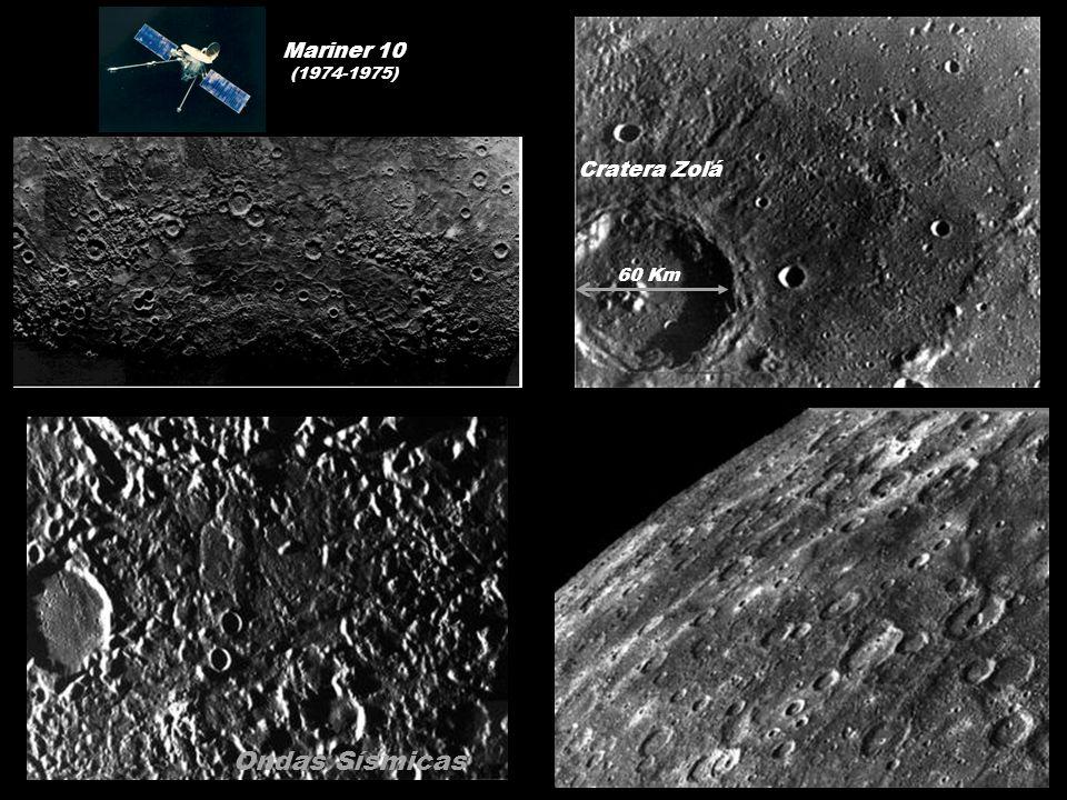 Cratera Zolá 60 Km Ondas Sísmicas Mariner 10 (1974-1975)