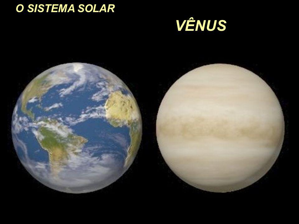 O SISTEMA SOLAR VÊNUS Tamanho comparado à Terra