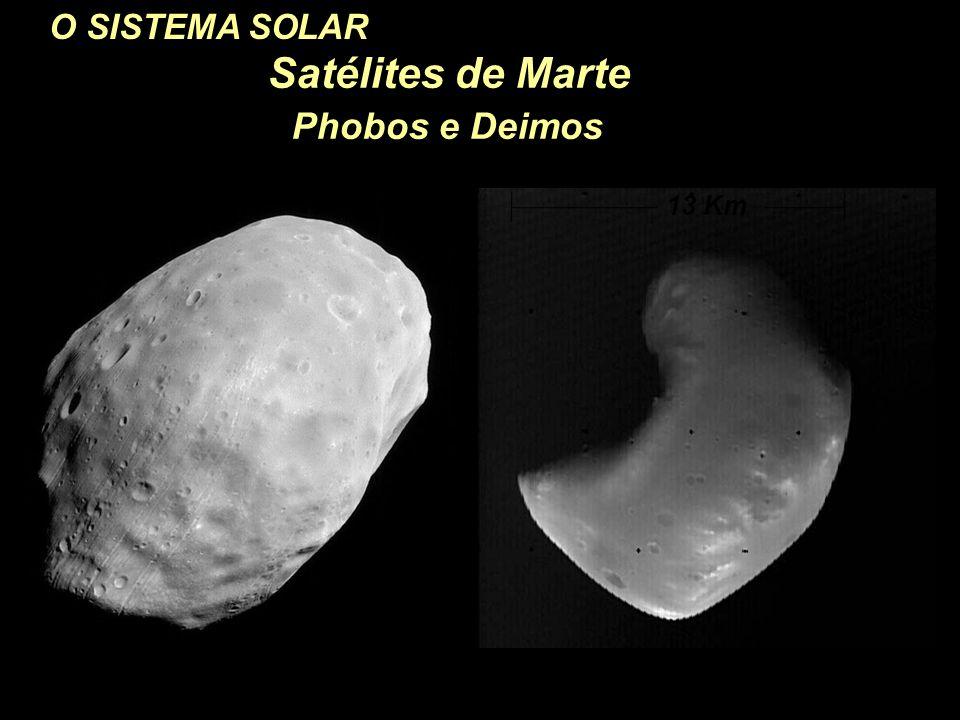 O SISTEMA SOLAR Satélites de Marte Phobos e Deimos Deimos 13 Km 26 Km Phobos
