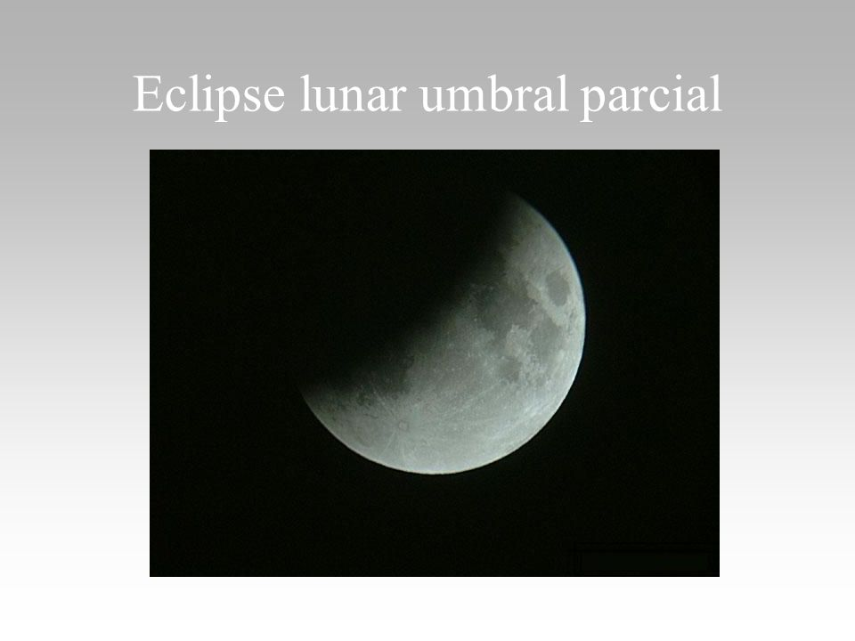 Eclipse lunar umbral parcial