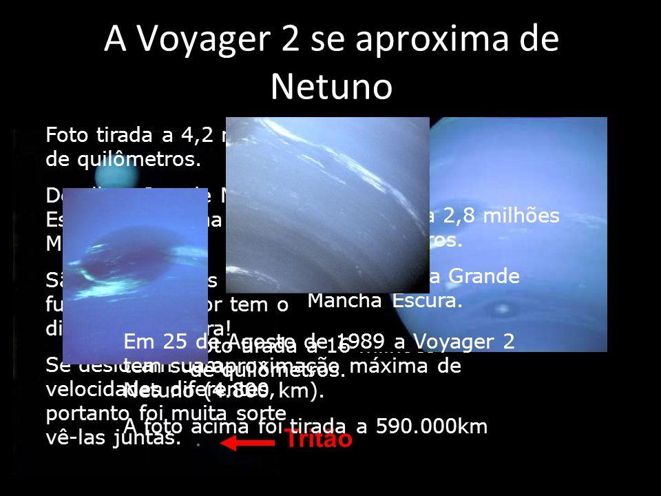 A Voyager 2 se aproxima de Netuno Foto tirada em 3 de Julho de 1989.
