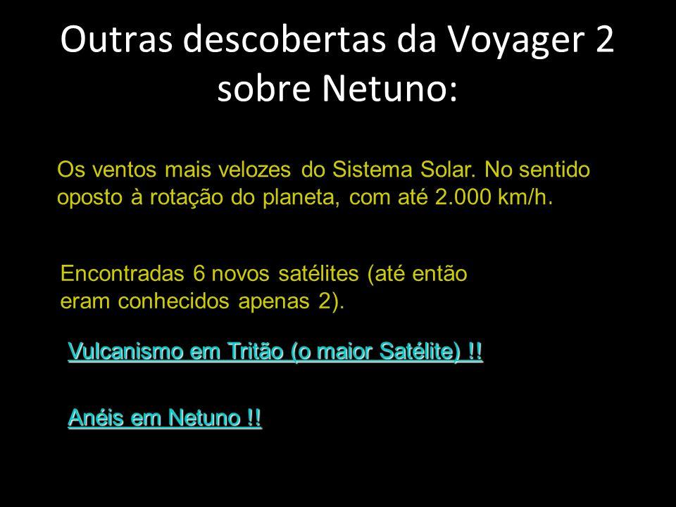 Outras descobertas da Voyager 2 sobre Netuno: Os ventos mais velozes do Sistema Solar.