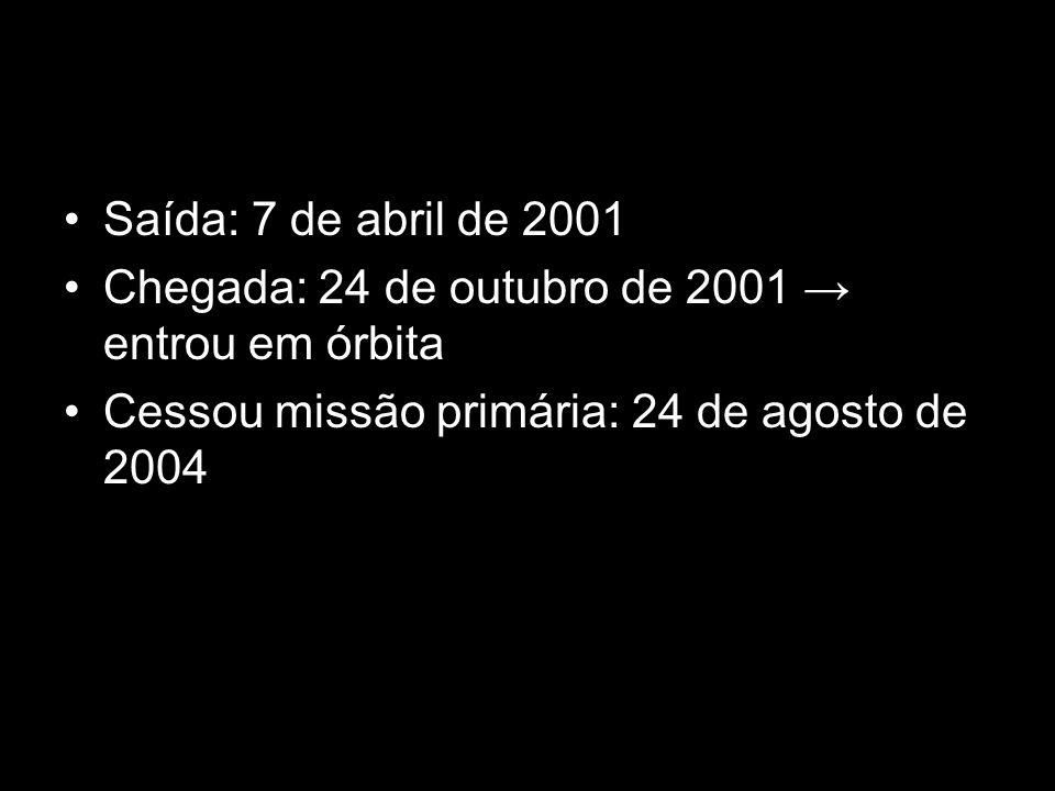Saída: 7 de abril de 2001 Chegada: 24 de outubro de 2001 entrou em órbita Cessou missão primária: 24 de agosto de 2004