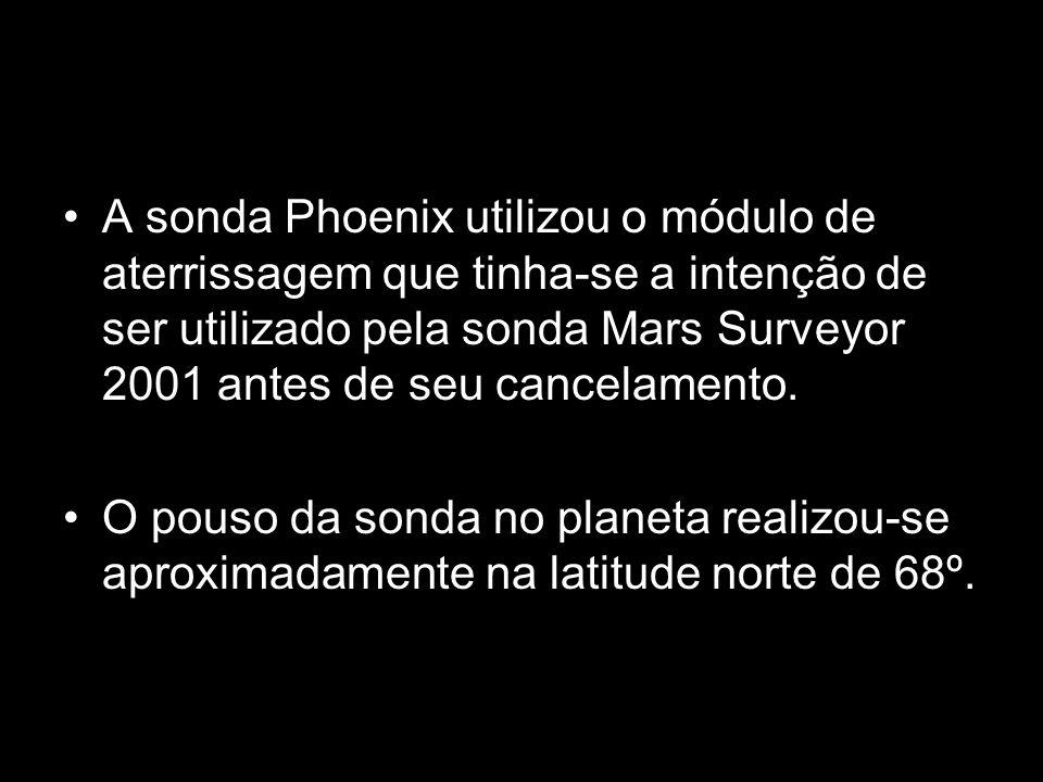 A sonda Phoenix utilizou o módulo de aterrissagem que tinha-se a intenção de ser utilizado pela sonda Mars Surveyor 2001 antes de seu cancelamento. O