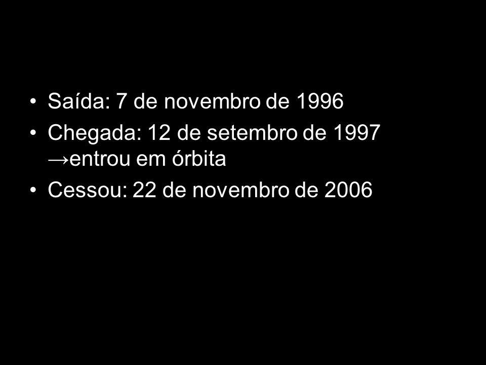 Saída: 7 de novembro de 1996 Chegada: 12 de setembro de 1997 entrou em órbita Cessou: 22 de novembro de 2006