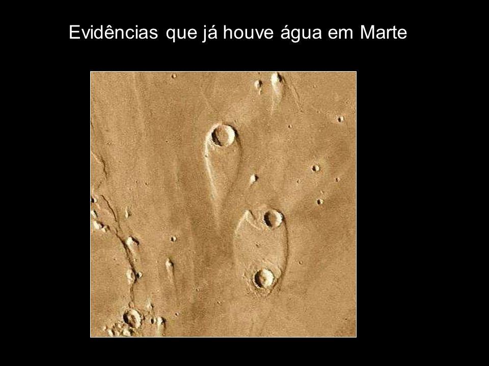 Evidências que já houve água em Marte
