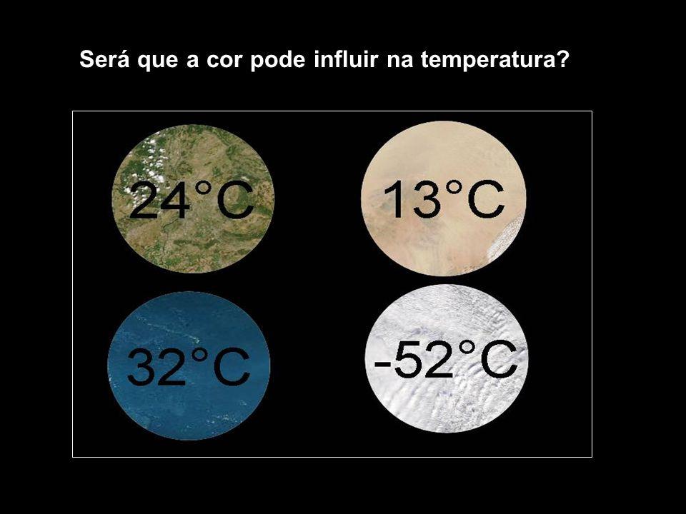 Será que a cor pode influir na temperatura?