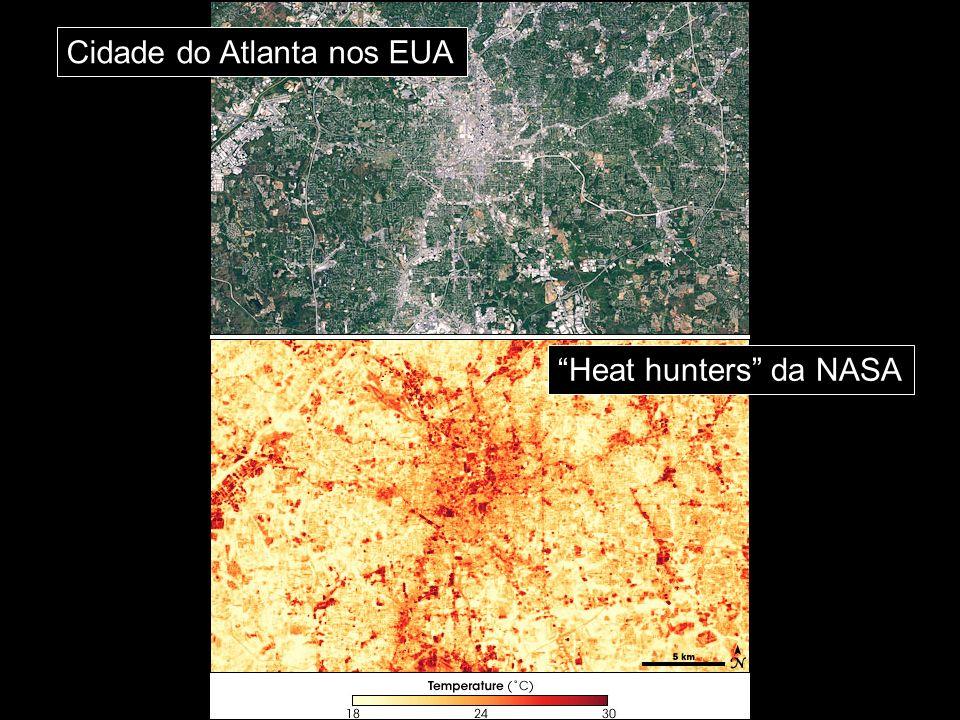 Cidade do Atlanta nos EUA Heat hunters da NASA