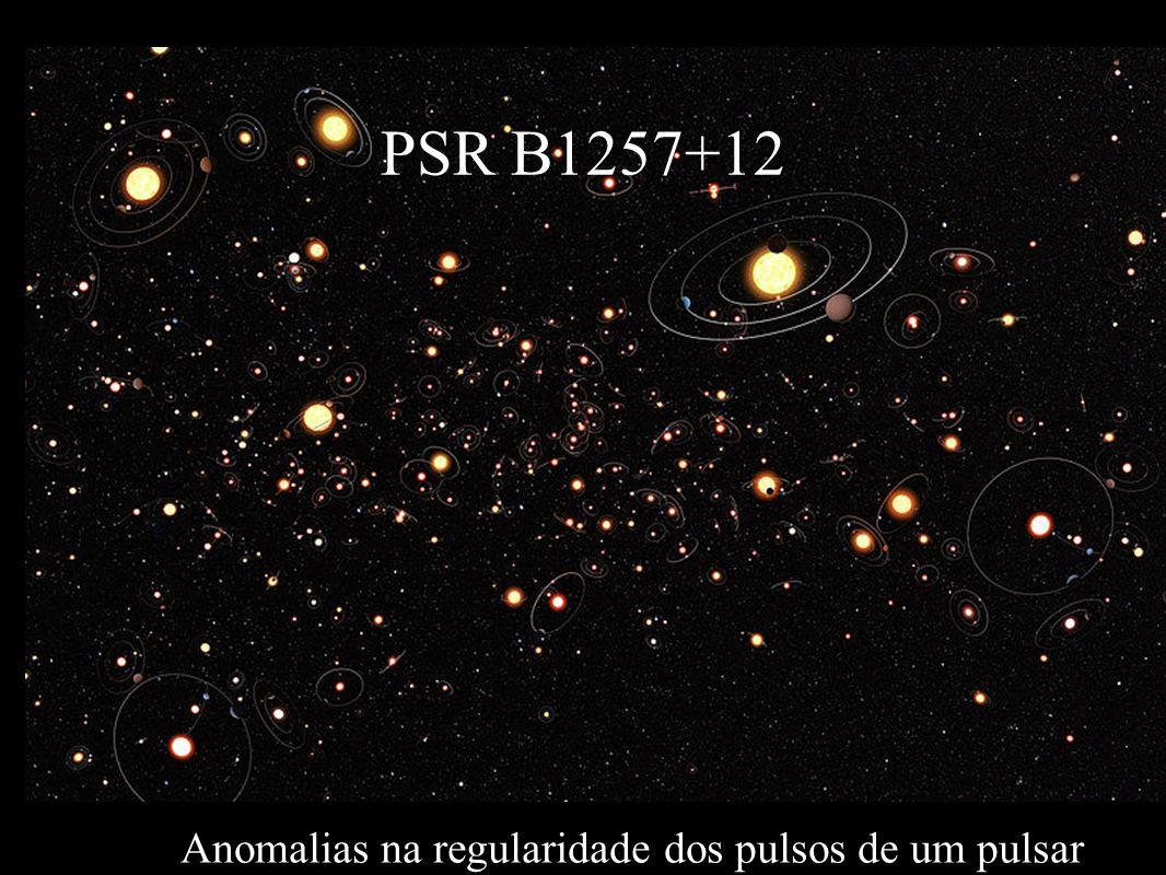 Anomalias na regularidade dos pulsos de um pulsar PSR B1257+12