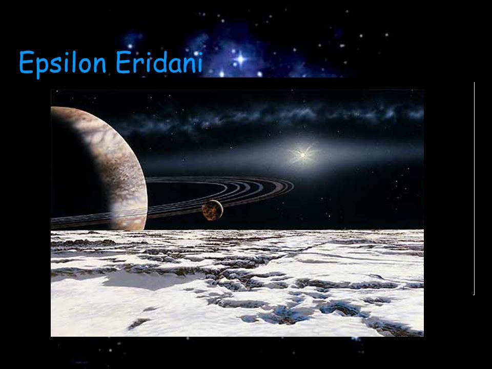 Disco de poeira Disco de poeira Planetas Planetas Aproximadamente Aproximadamente 1 bilhão de anos de idade 1 bilhão de anos de idade Epsilon Eridani