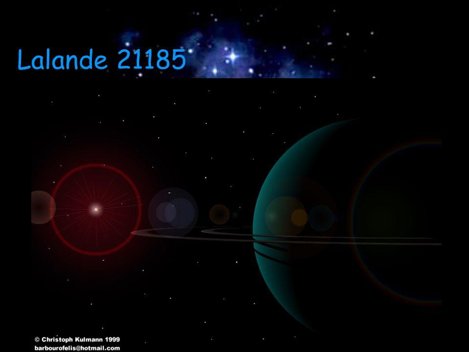 Lalande 21185 Análises concluiram que podem existir até 3 planetas orbitando Análises concluiram que podem existir até 3 planetas orbitando Lalande 21