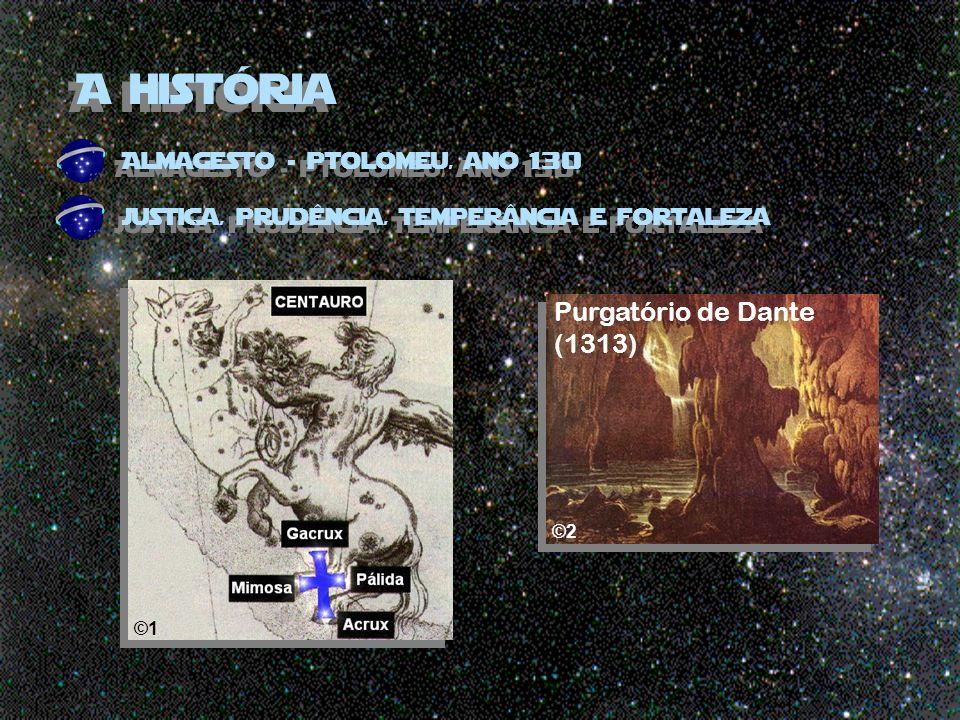 A história Almagesto - ptolomeu, ano 130 justiça, prudência, temperância e fortaleza ©1 Purgatório de Dante (1313) ©2