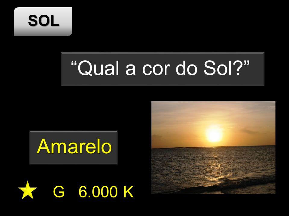 SOL G 6.000 K Qual a cor do Sol? Amarelo