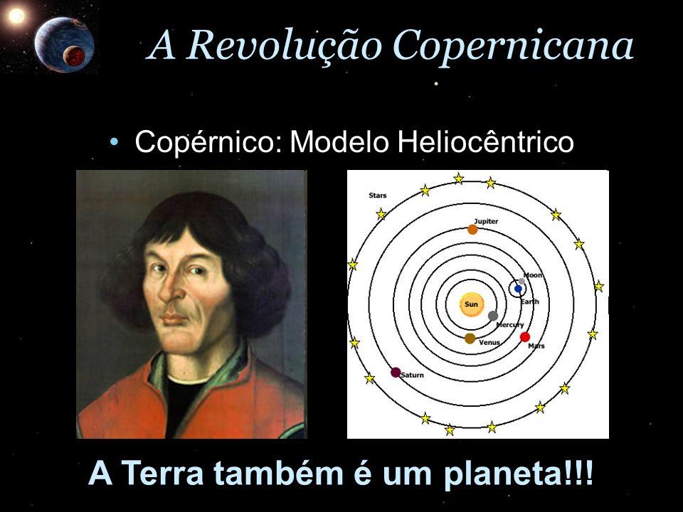 A Revolução Copernicana Copérnico: Modelo HeliocêntricoCopérnico: Modelo Heliocêntrico A Terra também é um planeta!!!