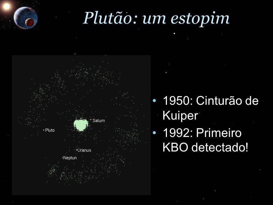 1950: Cinturão de Kuiper1950: Cinturão de Kuiper 1992: Primeiro KBO detectado!1992: Primeiro KBO detectado!