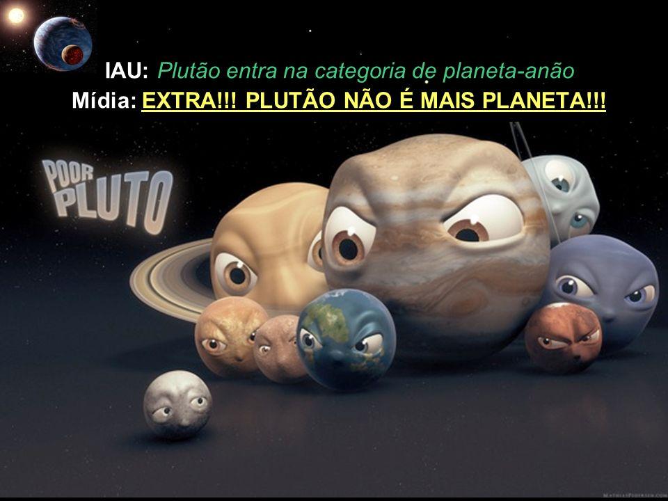 IAU: Plutão entra na categoria de planeta-anão Mídia: EXTRA!!! PLUTÃO NÃO É MAIS PLANETA!!!