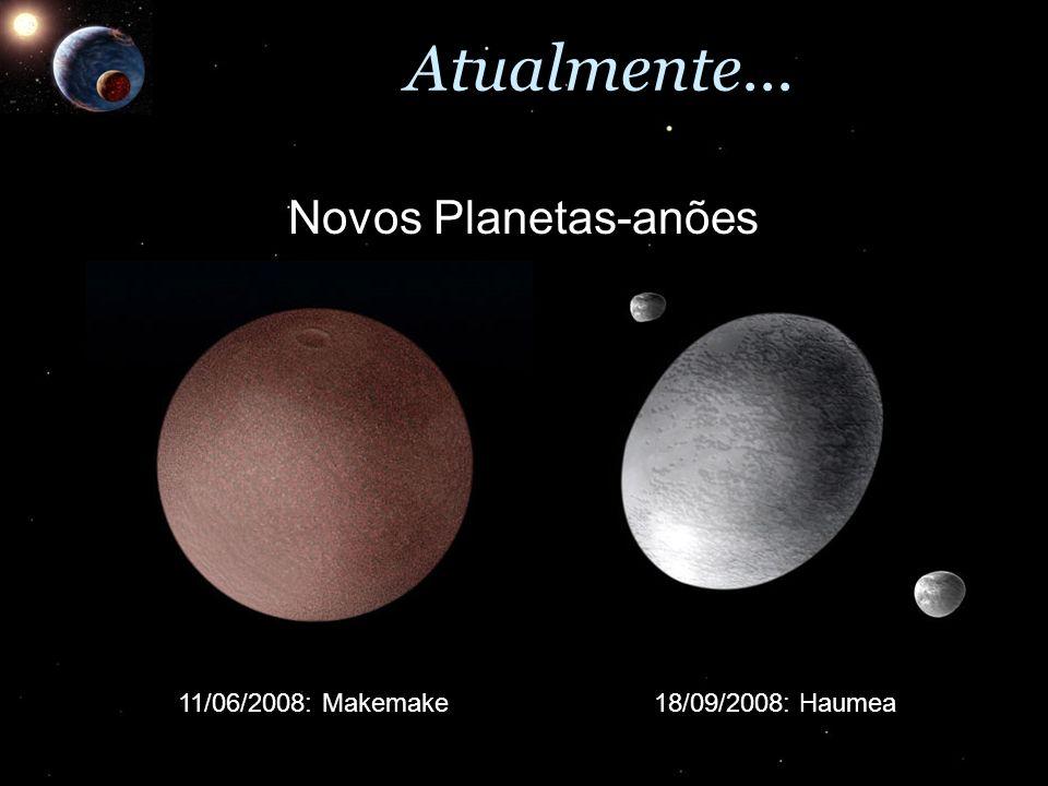 Atualmente... Novos Planetas-anões 11/06/2008: Makemake18/09/2008: Haumea