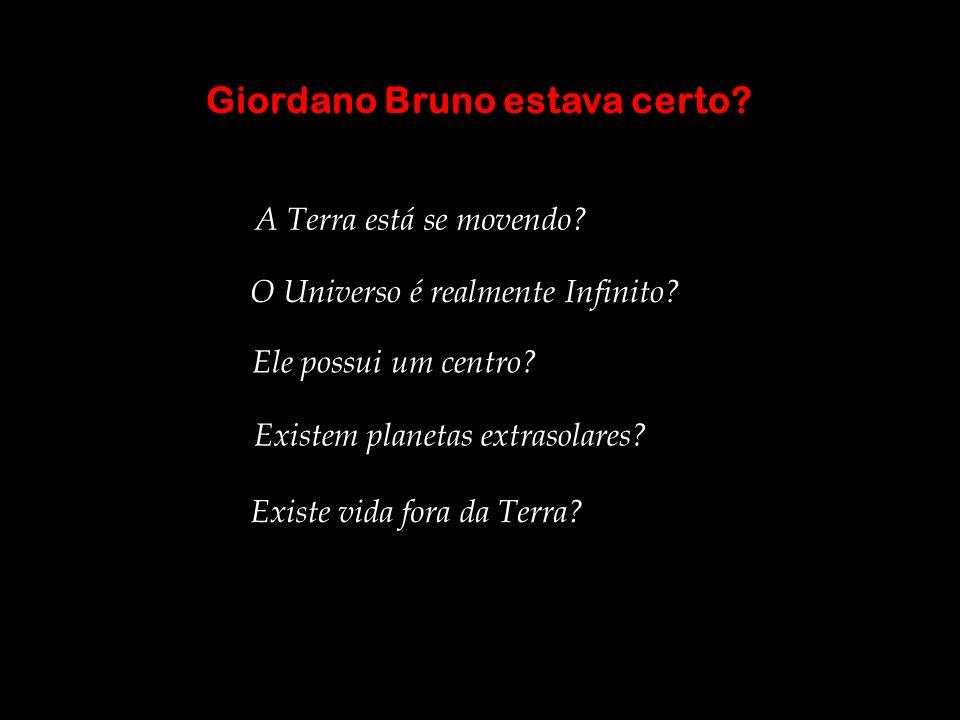 Giordano Bruno estava certo? O Universo é realmente Infinito? Ele possui um centro? Existem planetas extrasolares? A Terra está se movendo? Existe vid