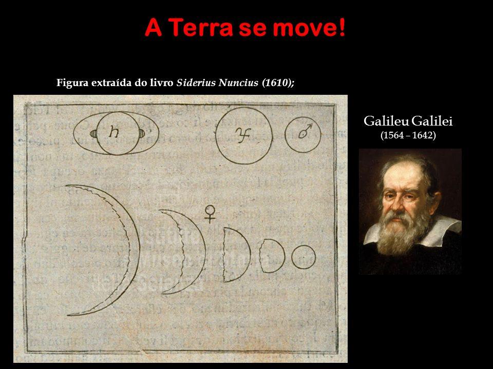 Figura extraída do livro Siderius Nuncius (1610); A Terra se move! Galileu Galilei (1564 – 1642)