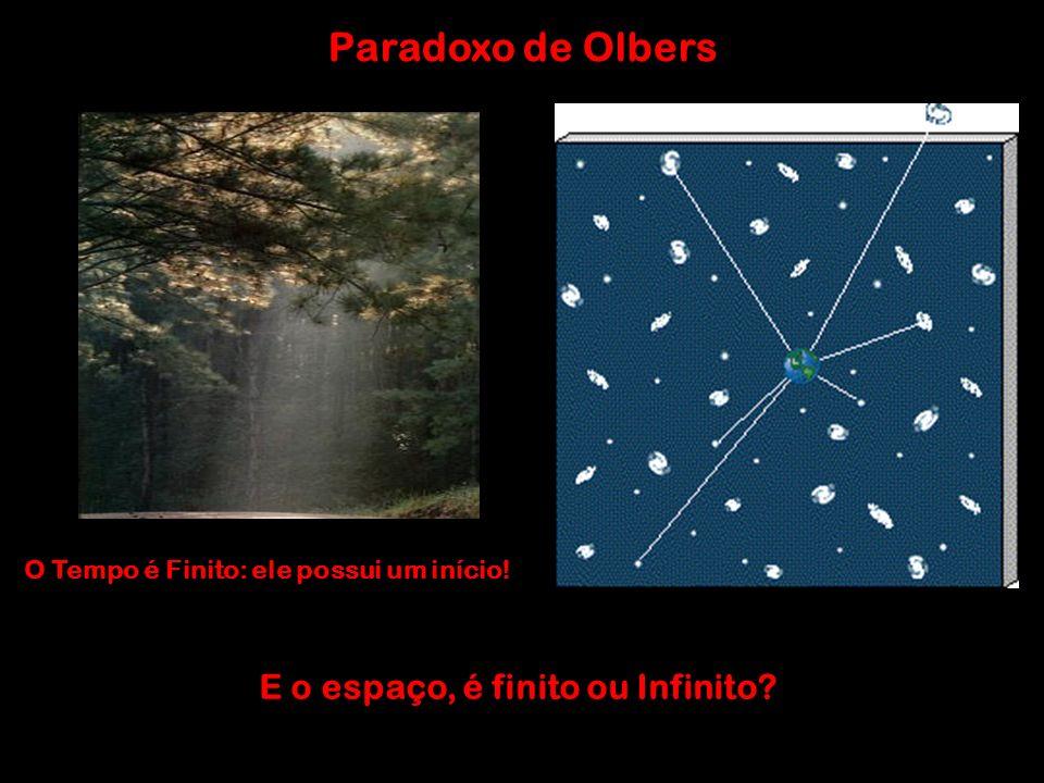 Paradoxo de Olbers O Tempo é Finito: ele possui um início! E o espaço, é finito ou Infinito?