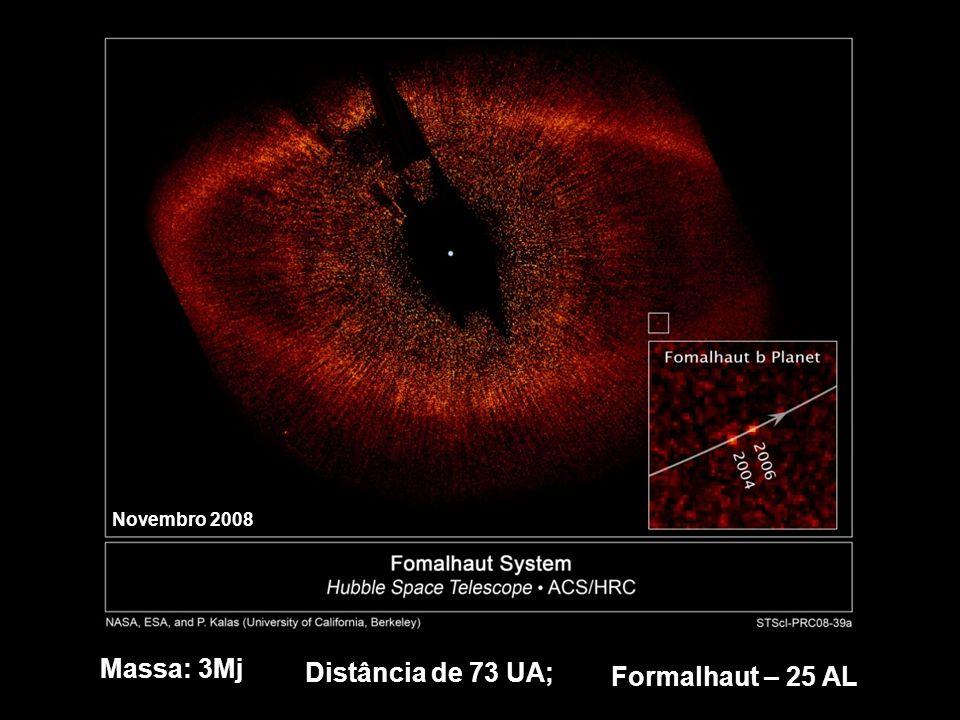 Formalhaut – 25 AL Massa: 3Mj Distância de 73 UA; Novembro 2008