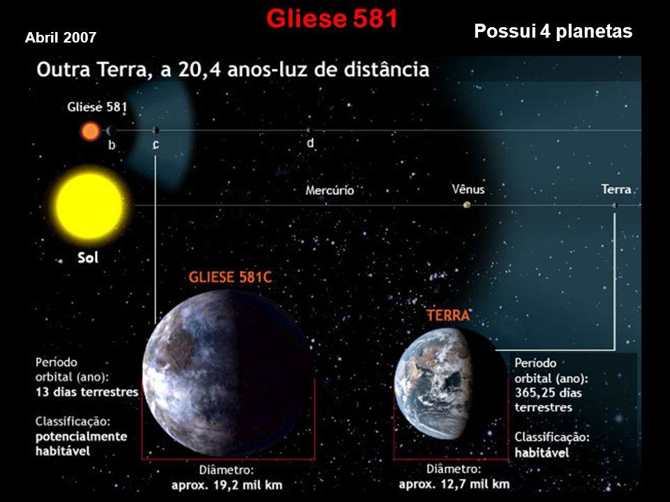 Gliese 581 Possui 4 planetas Abril 2007
