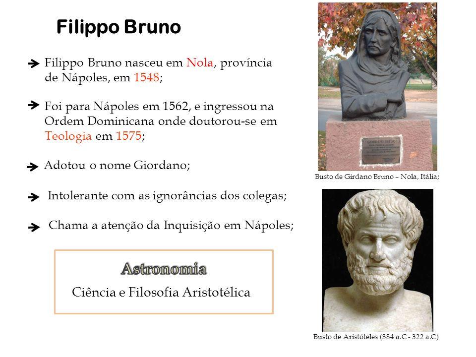 Busto de Girdano Bruno – Nola, Itália; Filippo Bruno nasceu em Nola, província de Nápoles, em 1548; Foi para Nápoles em 1562, e ingressou na Ordem Dom