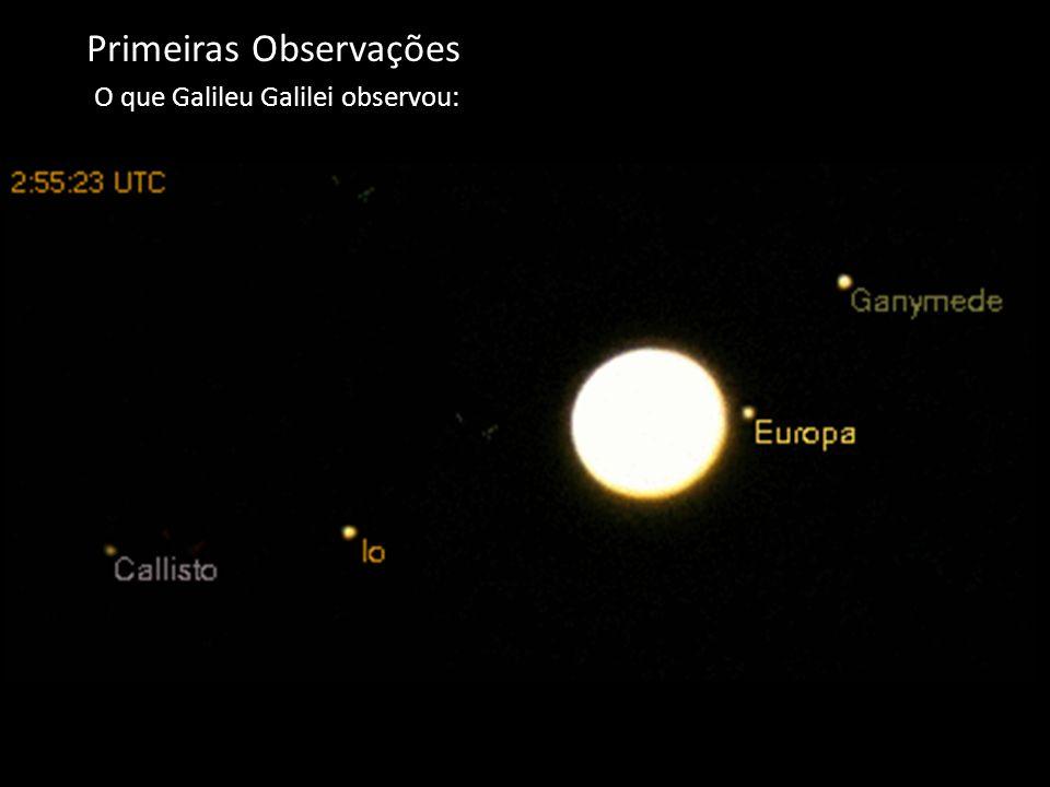 Primeiras Observações O que Galileu Galilei observou: