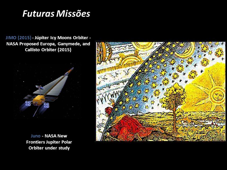 Futuras Missões JIMO (2015) - Júpiter Icy Moons Orbiter - NASA Proposed Europa, Ganymede, and Callisto Orbiter (2015) Juno - NASA New Frontiers Jupite