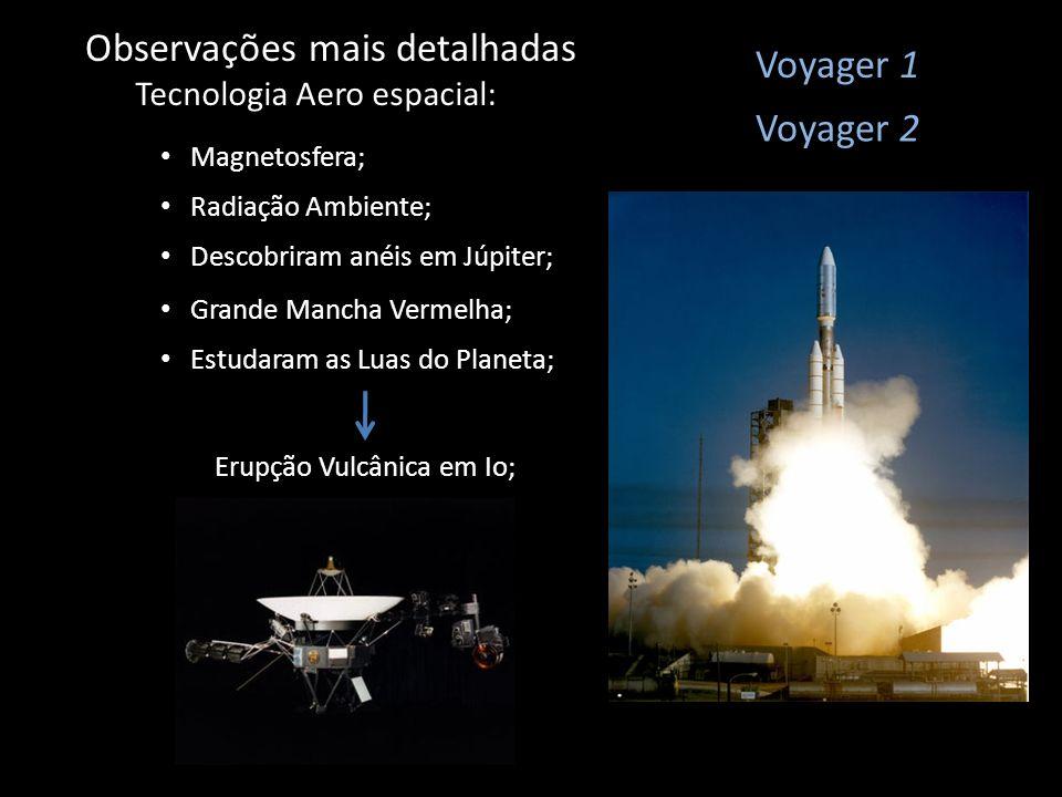 Observações mais detalhadas Tecnologia Aero espacial: Voyager 1 Estudaram as Luas do Planeta; Magnetosfera; Voyager 2 Radiação Ambiente; Descobriram a