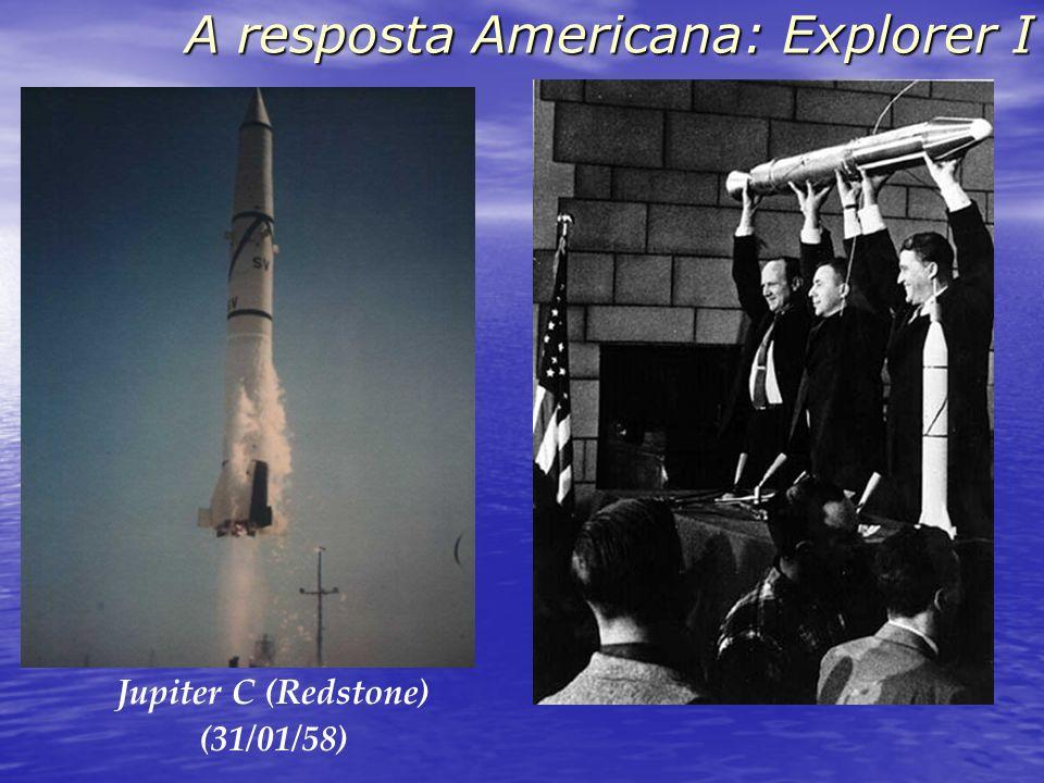 A resposta Americana: Explorer I Jupiter C (Redstone) (31/01/58)