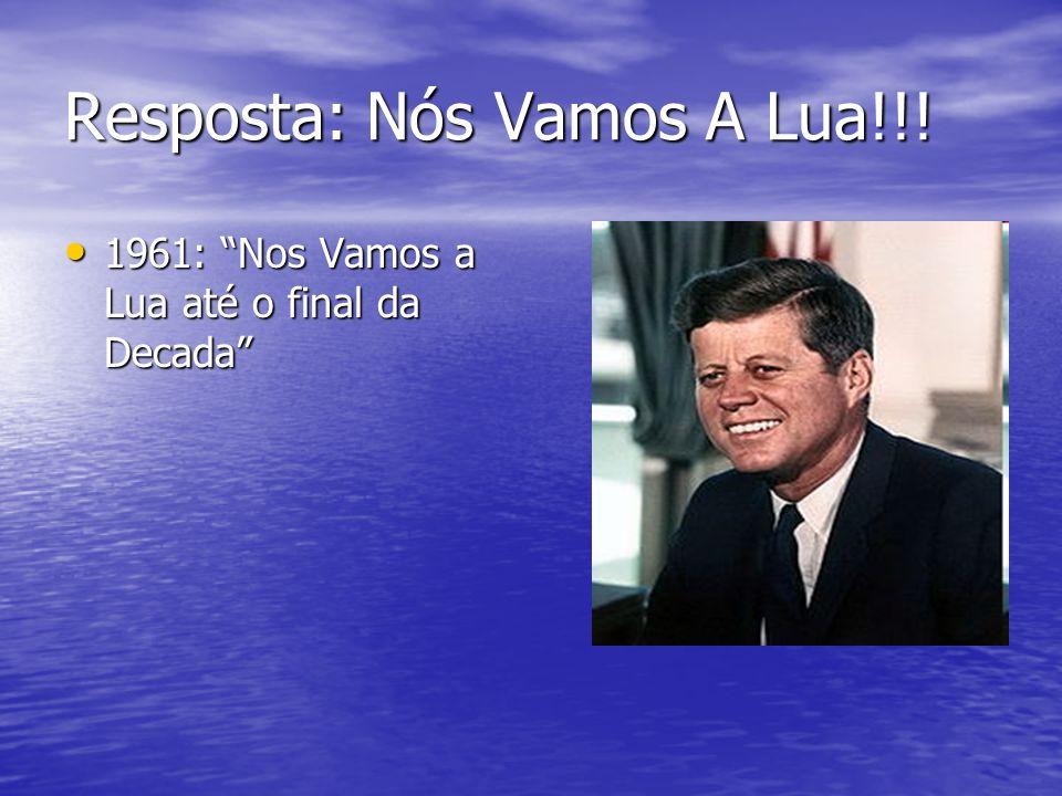 Resposta: Nós Vamos A Lua!!! 1961: Nos Vamos a Lua até o final da Decada 1961: Nos Vamos a Lua até o final da Decada