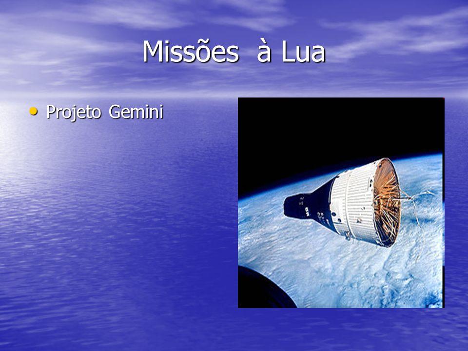 Missões à Lua Projeto Gemini Projeto Gemini