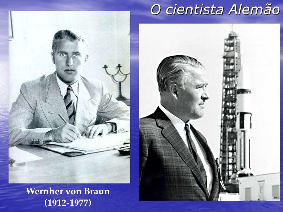 O cientista Alemão Wernher von Braun (1912-1977) O foguete trabalhou perfeitamente, exceto por ter pousado no planeta errado