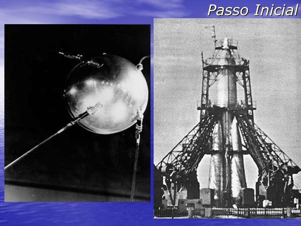 Sputnik (4/10/1957) - 83 kg - uma volta em 98 minutos - mandava bips Passo Inicial