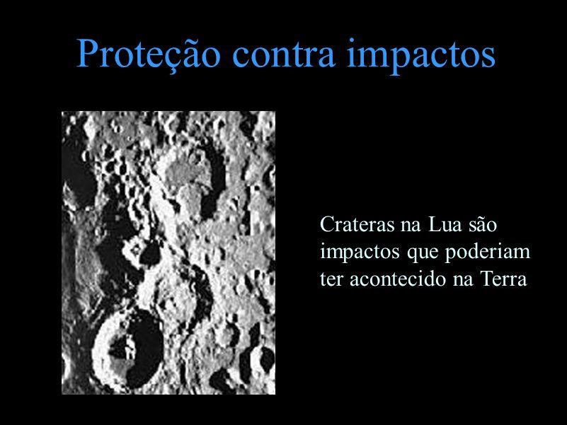 Proteção contra impactos Crateras na Lua são impactos que poderiam ter acontecido na Terra