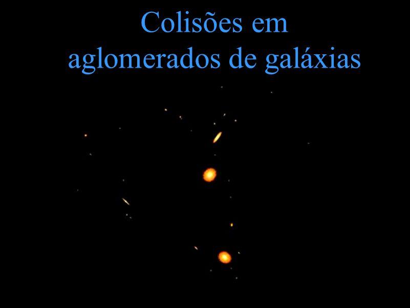 Colisões em aglomerados de galáxias