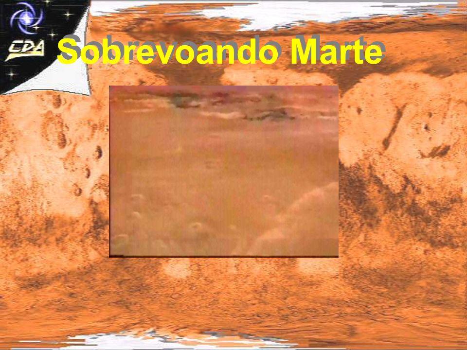 Sobrevoando Marte